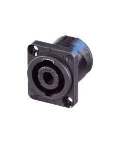 Speakon chassisdeel Neutrik NL4MP zwart