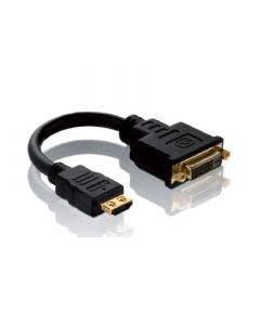 HDMI/DVI adapter Pureinstall - 0.10 meter Purelink PI060 zwart