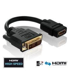 DVI/HDMI adapter Pureinstall - 0.10 meter Purelink PI065 zwart
