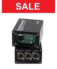 Microfoon splitter 1 input/3 output Switchcraft RMAS1PRO zwart