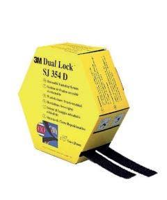 Dual lock klikband 25 mm  - 2 x 5 meter rol 3m SJ354D zwart