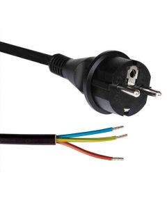Rubber netsnoer H07RN-F 3G1.50 recht/sp   - 10 meter Romal zwart