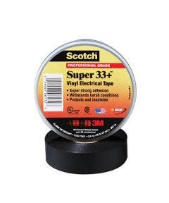 Scotchtape 19 mm super 33+ - 20 meter 3m zwart