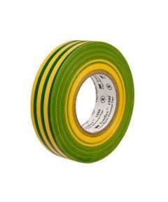 Temflex vinyl tape 1500 15 mm - 10 meter 3m geel groen