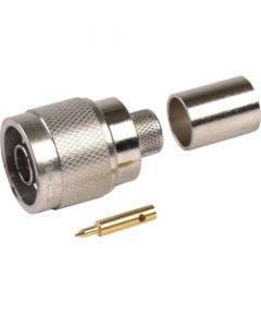 Straight plug TNC male  p/n 3190-1552 Times microwave systems TC-100-TM