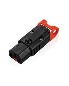 Connector C13 recht IEC Lock vergrendelbaar Iec lock zwart