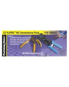 EZ-RJ45 HD pro kit (krimptang, kniptang, stripper & 50x RJ45 Cat5e connectoren) Platinum tools