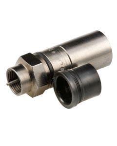 F compressie connector zwart tbv PRG11 Belden SNS11AS