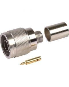 Straight plug TNC (m) p/n 3190-1552 Times microwave systems TC-100-TM