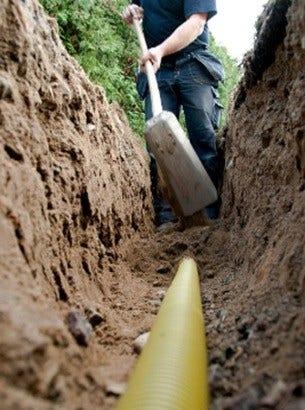 DIrect Burial kabel in een kabelgoot